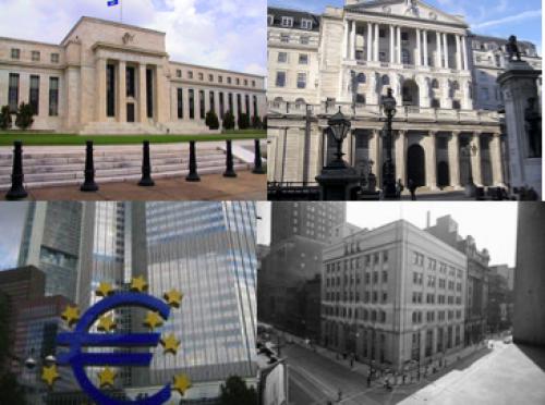 تجمّع ستة بنوك مركزية من اجل تعزيز السيولة النقدية