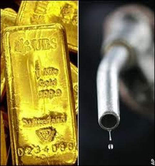 هبوط أسعار الذهب، وارتفاع النفط للجلسة السادسة