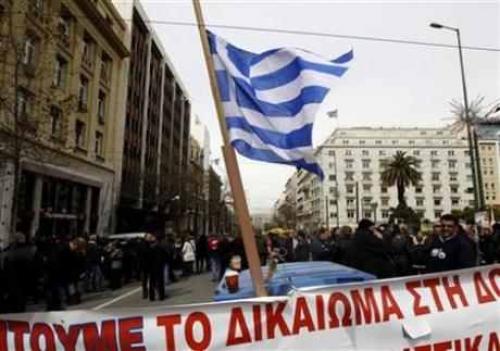 إضراب النقابات اليونانية  قبل محادثات القادة الطاحنة