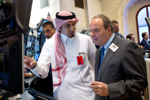 الـ م / طلال السميرى رئيس شركة المتداول العربي فى زيارة لمقر البورصة الامريكية بنيويورك