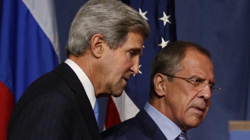 """محادثات """"لافروف"""" و """"كيري"""" بشأن الأزمة الأوكرانية"""
