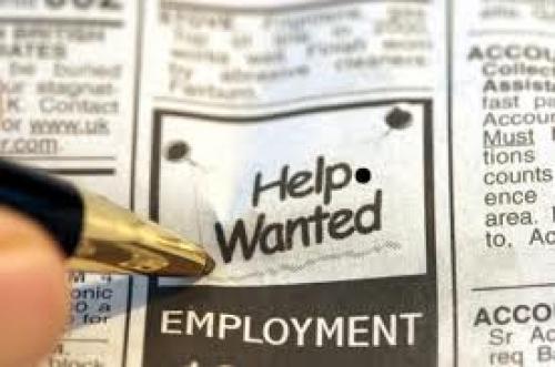 التغير في معدل التوظيف يطابق التوقعات