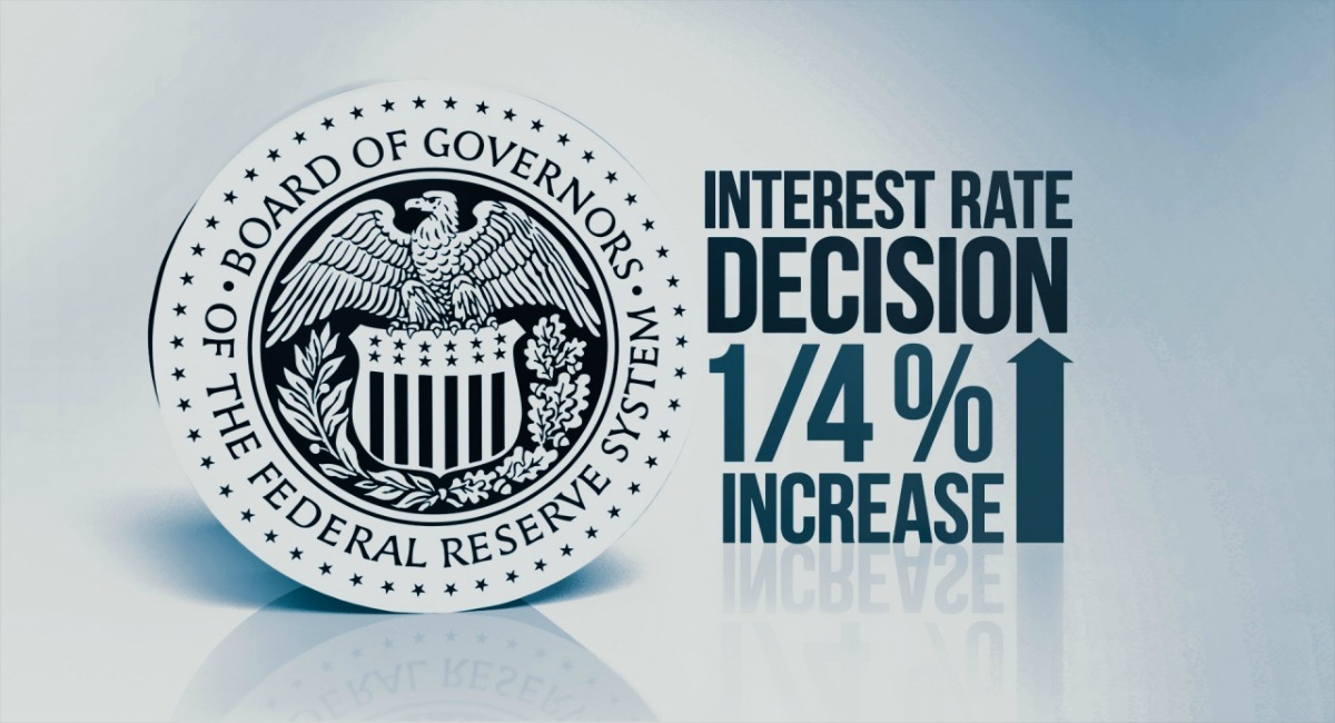 الفيدرالي الأمريكي يرفع الفائدة من 1.50% إلى 1.75% كالمتوقع