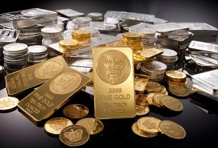 تراجع الذهب مدفوعاً بالأزمة اليونانية
