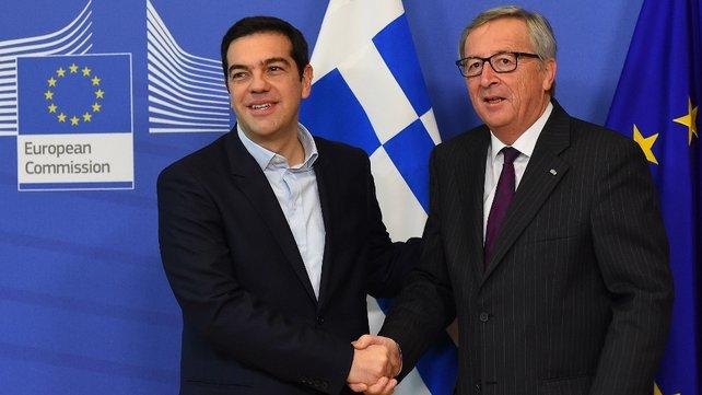 لقاء تسيبراس ورئيس المفوضية الأوروبية في ظل الخلافات اليونانية الألمانية