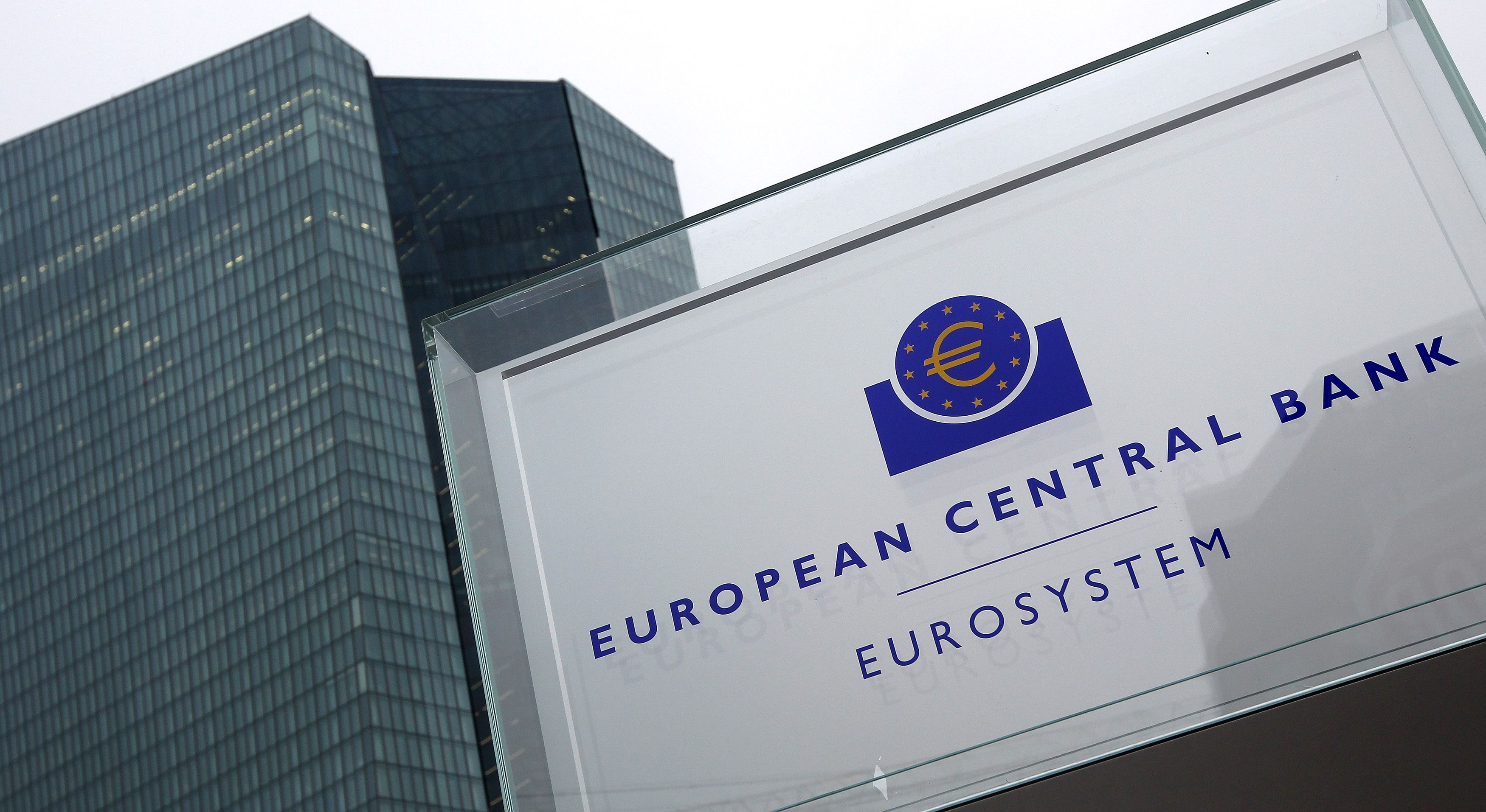 المركزي الأوروبي بصدد خفض الفائدة على ودائع البنوك مجدداً إلى النطاق السلبي