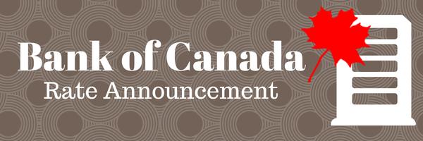 أهم نقاط بيان الفائدة الصادر عن بنك كندا