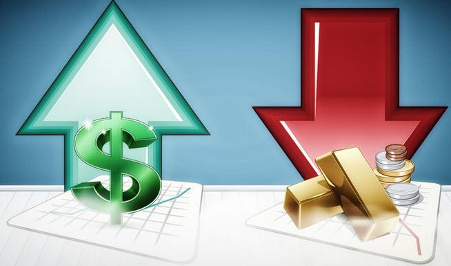 تصريحات جيروم باول تدعم ارتفاع الدولار وهبوط الذهب
