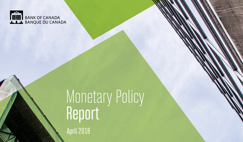تقرير السياسة النقدية الصادر عن بنك كندا - إبريل 2018