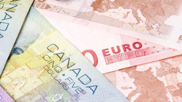اليورو كندي يحاول تجاوز الحد العلوي للقناة الهابطة