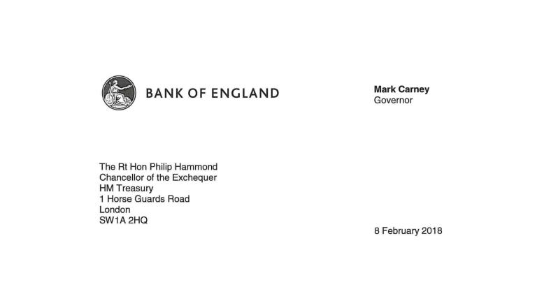 خطاب التضخم من كارني إلى وزير الخزانة هاموند
