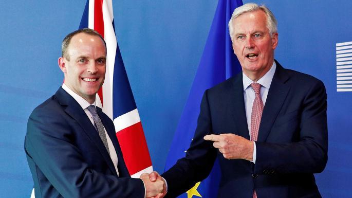 بارنييه وراب يؤكدان سعي الجانبين لإنهاء مفاوضات البريكست بحلول أكتوبر