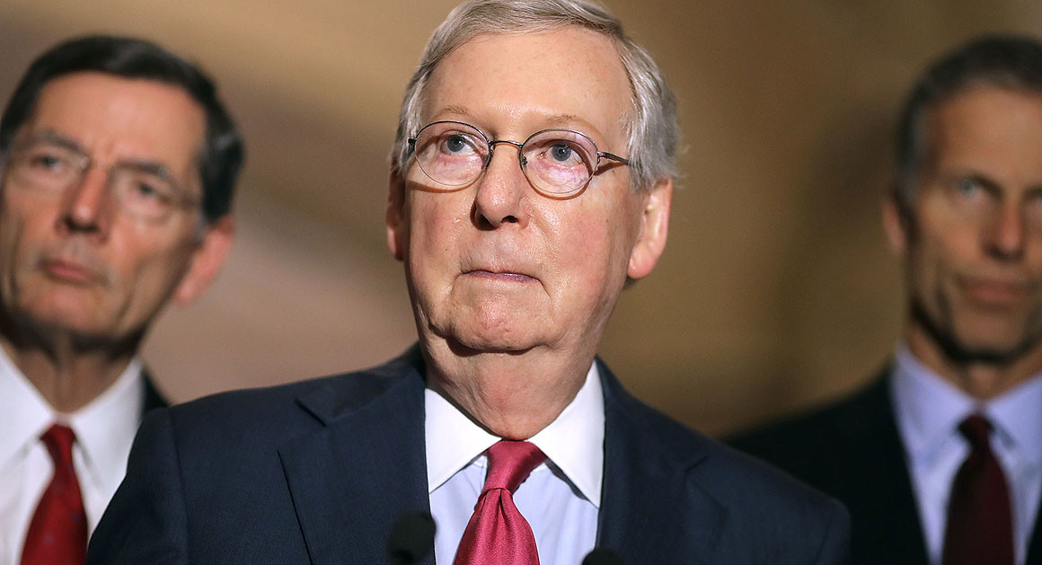 مكونيل: مجلس الشيوخ الأمريكي يحاول تمرير قوانين الإنفاق