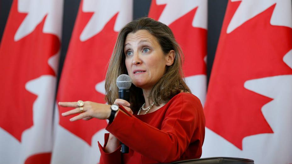 وزيرة الخارجية الكندية: ليس لدينا خيار آخر غير الرد على التعريفات الأمريكية بالمثل