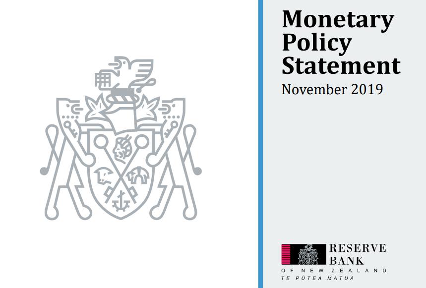بيان السياسة النقدية الصادر عن الاحتياطي النيوزلندي - نوفمبر