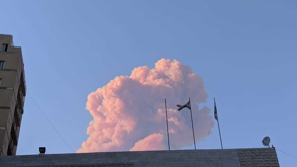 عاجل.... انفجار قوي يضرب العاصمة اللبنانية بيروت