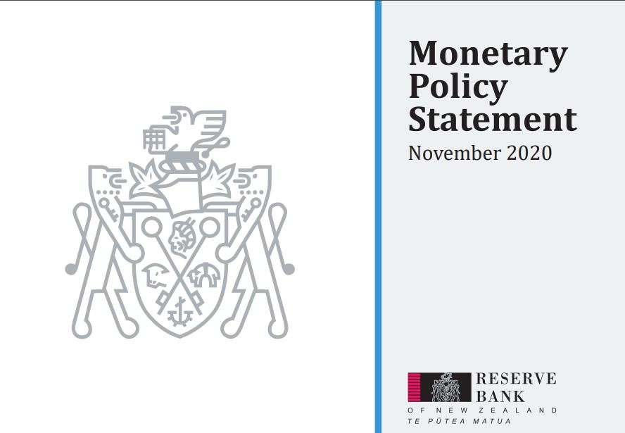بيان السياسة النقدية الصادر عن الاحتياطي النيوزلندي - نوفمبر 2020