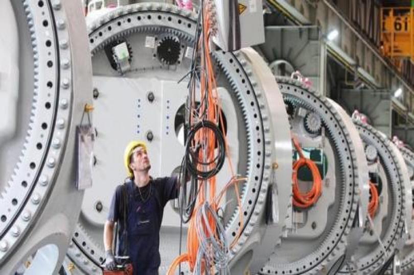 هبوط طلبات المصانع الألمانية