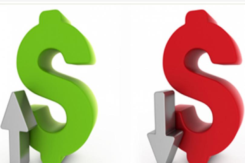 تقرير منتصف اليوم: الداو جونز يتوقف عند 11000 موقفًا ارتفاع الدولار